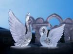Фото свадебной ледяной скульптуры -2