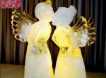 Фото свадебной ледяной скульптуры -4