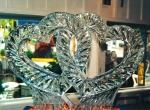 Фото свадебной ледяной скульптуры -7