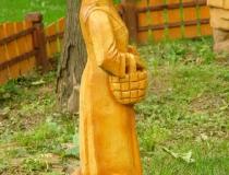 Деревянная скульптура Лиса