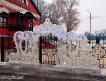 Ледяные скульптуры для украшения улиц фото-1