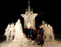 Монументальные ледяные скульптуры фото-3
