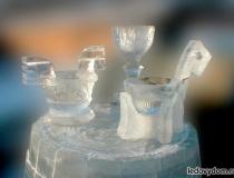 Посуда изо льда фото-1