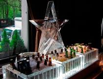 Ледяное сервировка стола фото-2