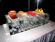 Ледяное сервировка стола фото-3