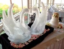 Свадебная ледяная скульптура фото-3