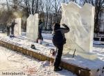 Процесс изготовления ледяных скульптур в городе Жуковском фото-3