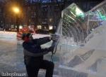 Процесс изготовления ледяных скульптур в городе Жуковском фото-4