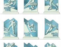 Эскизы для ледяных скульптур в городе Жуковский