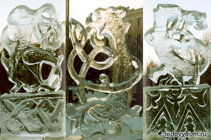 Ледяные скульптуры с зооморфными мотивами