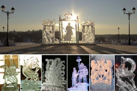 Городские ледяные скульптуры