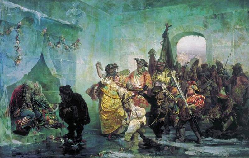 """В. И. Якоби """"Свадьба в Ледяном доме"""",1878 г."""