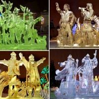Ледяной скульптурный комплекс Двенадцать месяцев