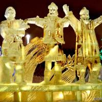 Осень - ледяная скульптура для ледяного комплекса