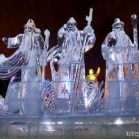 Скульптурная группа изо льда - Зима