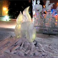 Ледяной огонь - центральная композиция комплекса Двенадцать месяцев