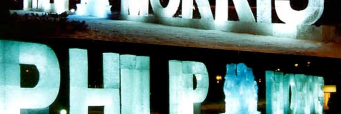 Ледяная реклама фирмы Philip Morris
