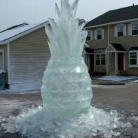 Ледяная реклама жевательной резинки