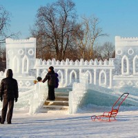 Ледяная крепость в музее-заповеднике Царицыно 2012 г.