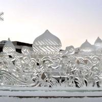 Новогодняя ледяные сооружения для города