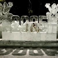 Цифры изо льда