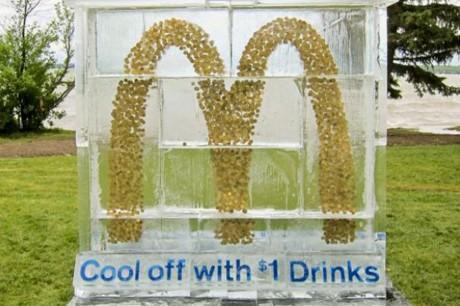 Ледяная акция McDonalds