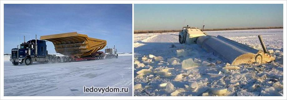 Опасность ледяной дороги
