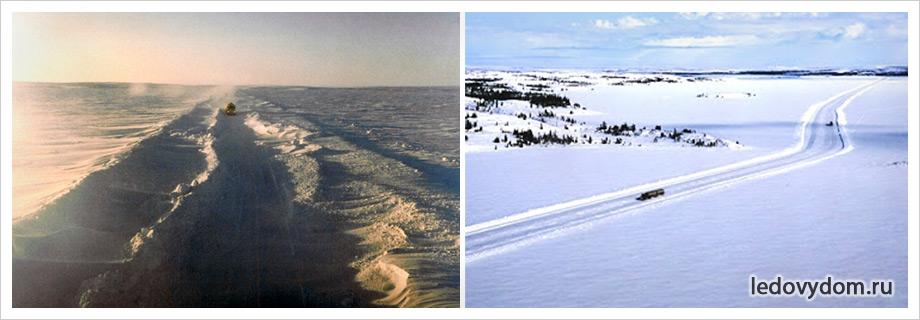Ледяная дорога важный объект для канадцев