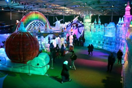 Фестиваль ледяных скульптур в Иерусалиме