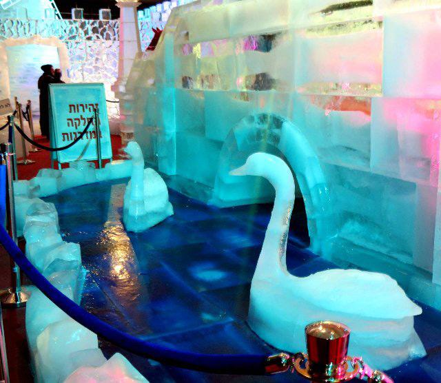 Фото ледяных лебедей
