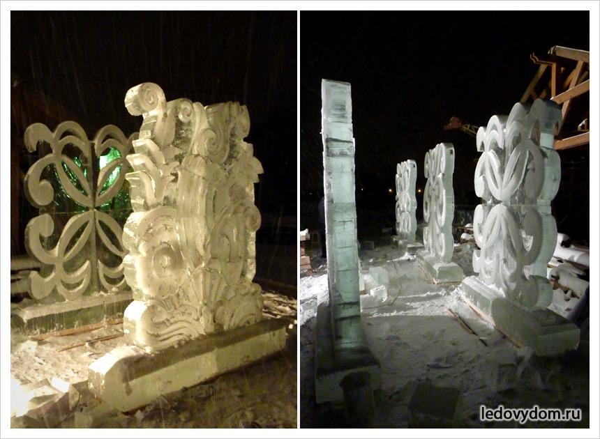 Новогодние ледяные композиции