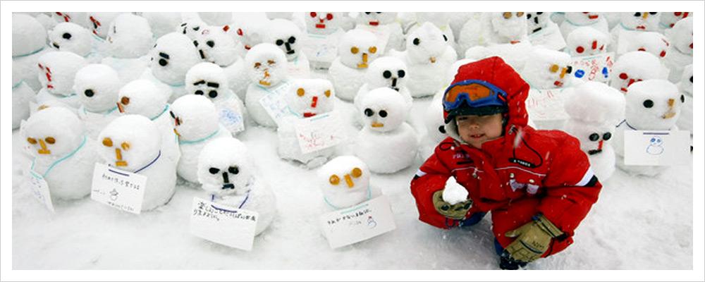 Конкурс снеговиков в Саппоро