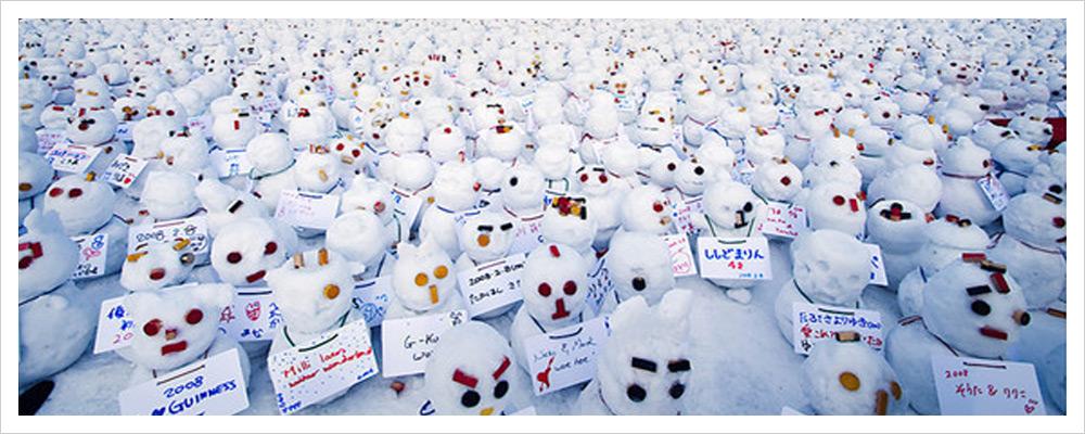 Именно так в Японии выглядят снеговики