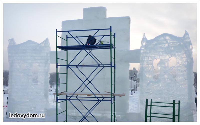 Процесс изготовления ледяной композиции