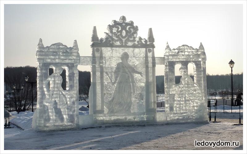 Центральная ледяная композиция  в Царицыно