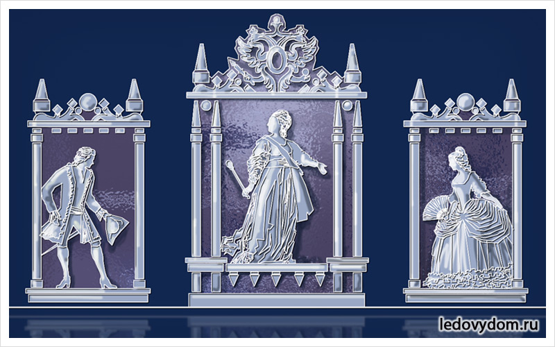 Эскиз ледяной скульптуры