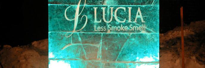 Ледовый логотип Lucia