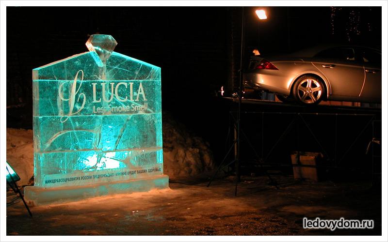 Реклама изо льда для презентаций
