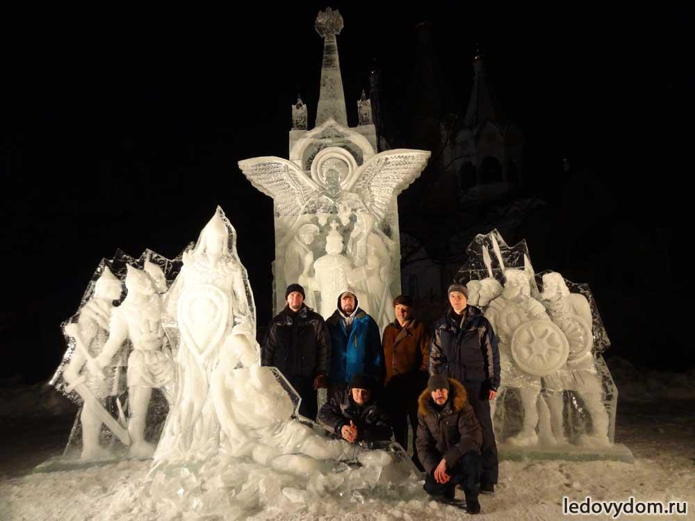 Ледяная композиция 400 лет Дому Романовых