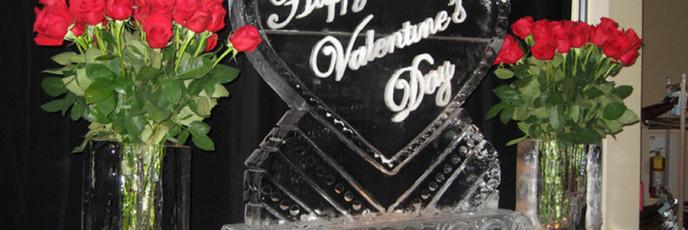 Ледяные скульптуры для Дня Святого Валентина