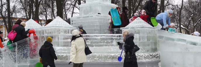 Сооружения изо льда