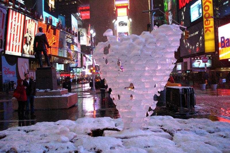 Растаявшее ледяное сердце в Нью-Йорке