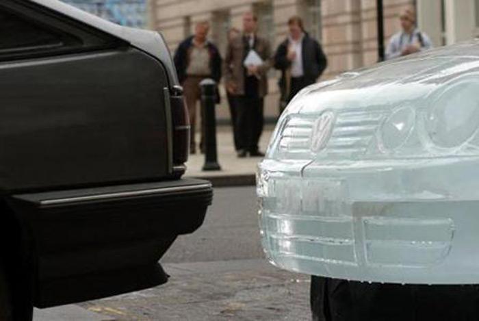Volkswagen Polo изо льда