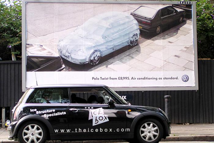 Рекламная ледяная акция Volkswagen