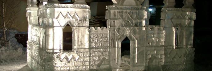 Ледяной городок для загородного дома