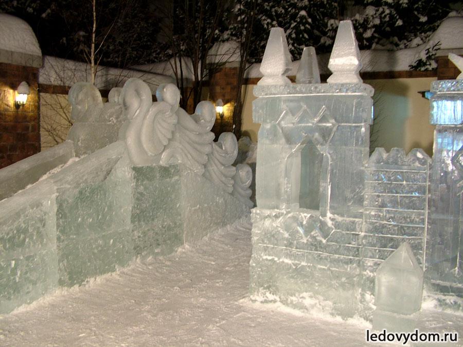 Ледяная горка для детского комплекса