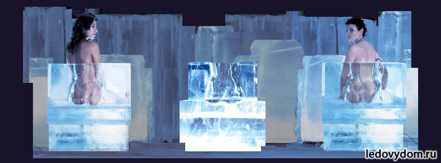 Ледяные скульптуры для IB-gallery