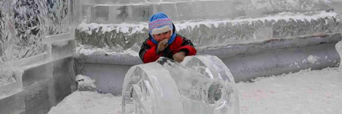 Ледяные скульптуры в Коломне