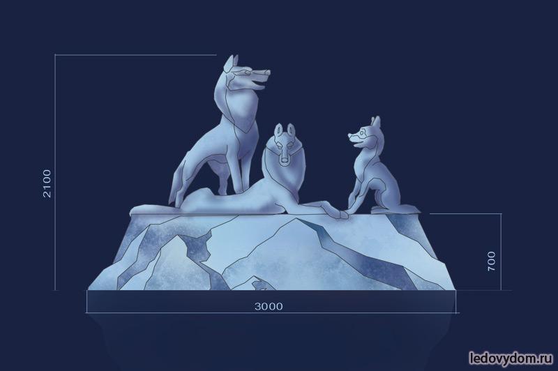 Эскиз для ледяной скульптуры