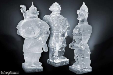 Ледяные скульптуры Три богатыря